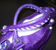 Balenciaga handbag after oil extraction of handles.