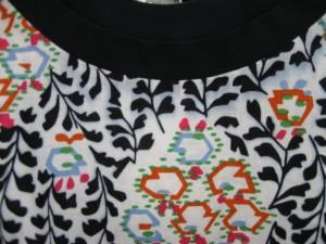 Tory Burch dress with dye transfer.