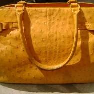 Muska Milano Ostrich Handbag after restoration.