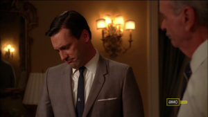 Don Draper with pocket square
