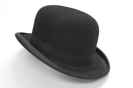 Jeeves' bowler hat