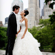 glamorous-summer-wedding-essex-house-nyc-monique-lhuillier-ball-gown-wedding-dress-straps