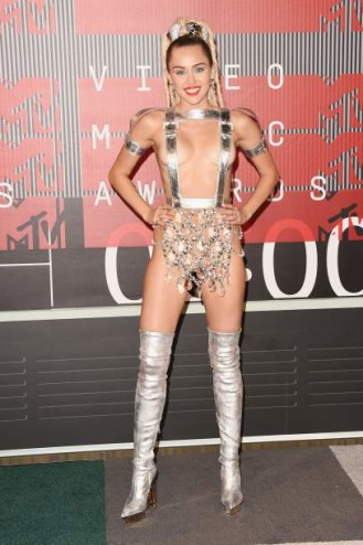 LOS ANGELES, CA - AUGUST 30:  Host Miley Cyrus attends the 2015 MTV Video Music Awards at Microsoft Theater on August 30, 2015 in Los Angeles, California.  (Photo by Jason Merritt/Getty Images)